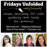 Fridays Unfolded Link Party {#143}