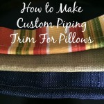 How To Make Custom Piping Trim For Pillows