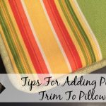 Tips For Adding Piping Trim To Pillows