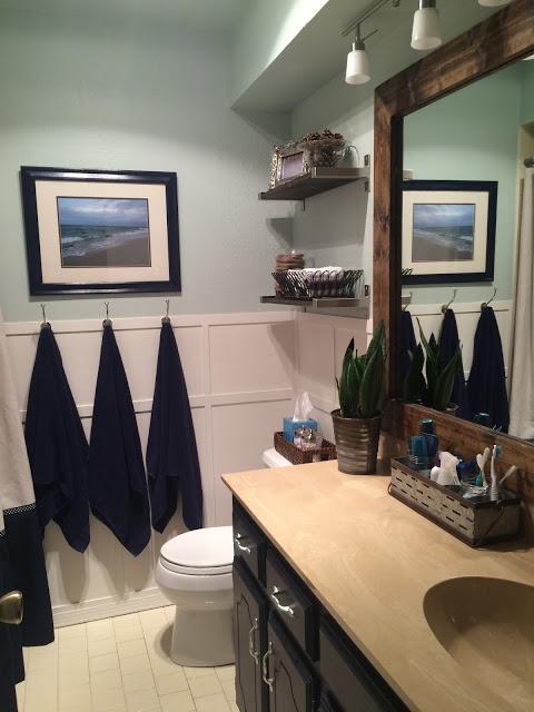 Guest bathroom coastal update