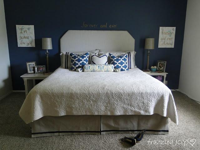 Master bedroom coastal update on a budget