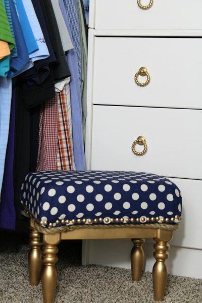 DIY upholstered stool