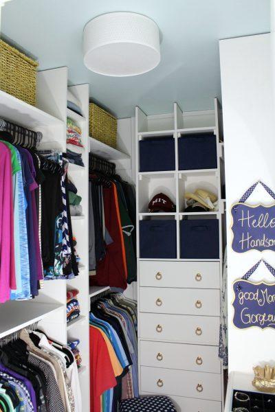 Small walk-in closet makeover