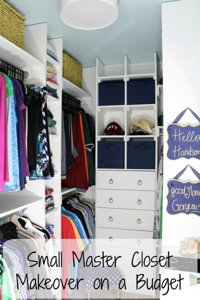 Small Master Closet Makeover on a Budget