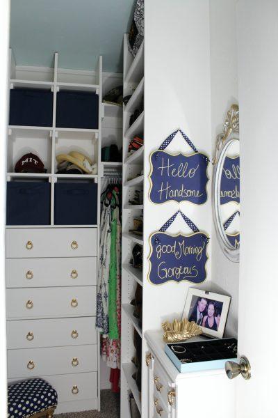 small walk-in closet update
