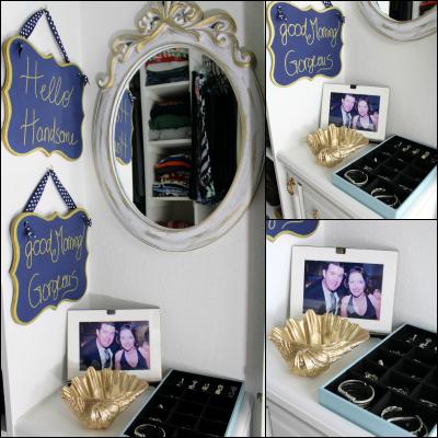 jewelry storage and mirror