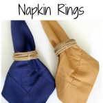 DIY Jute Napkin Rings