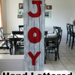 Hand Lettered Rustic JOY Sign