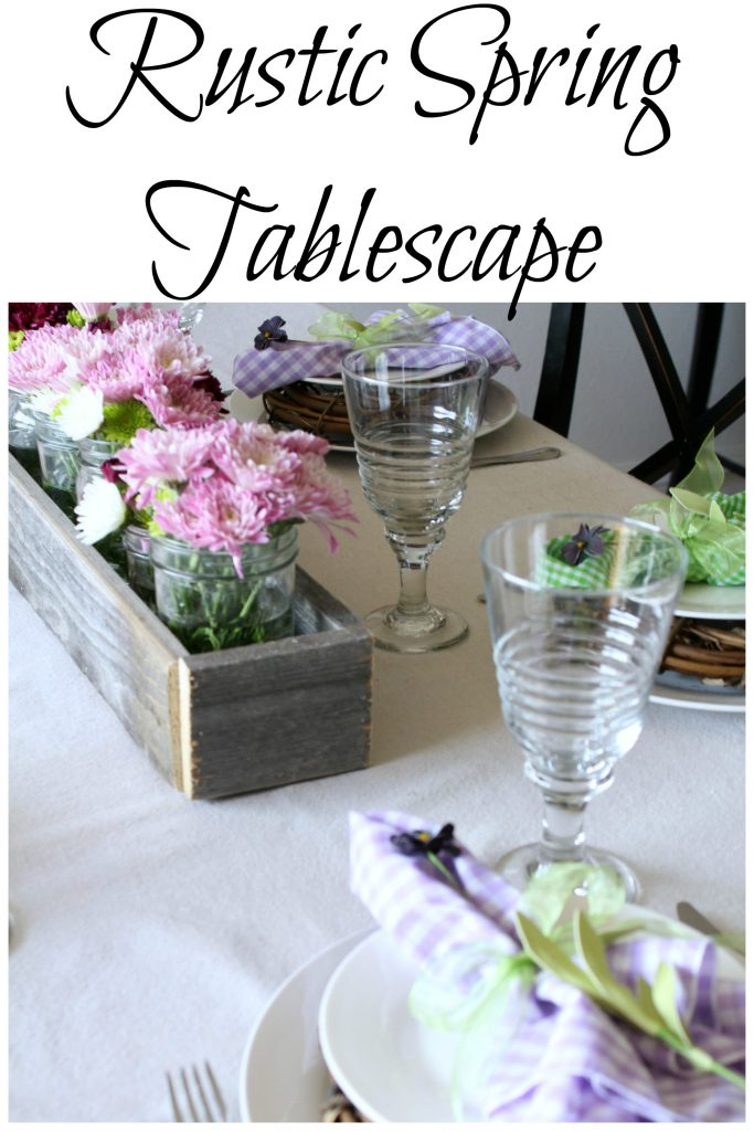 Rustic Spring Tablescape
