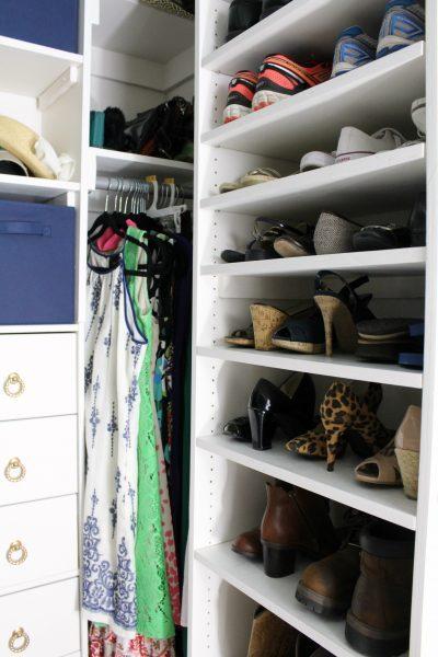 Shelves for shoe storage