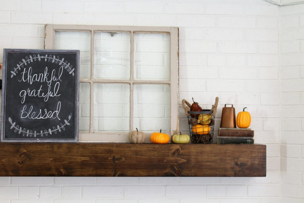 Farmhouse fall mantel