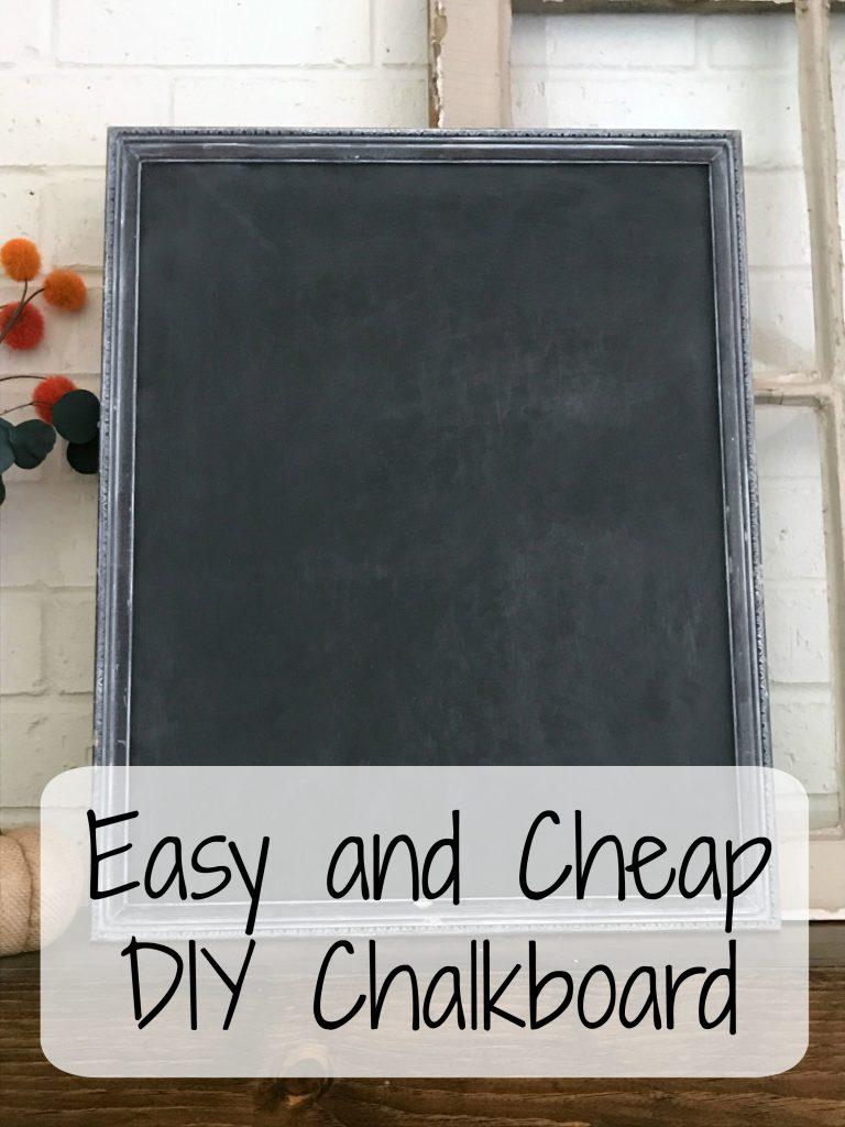 Easy and Cheap DIY Chalkboard - frazzled JOY