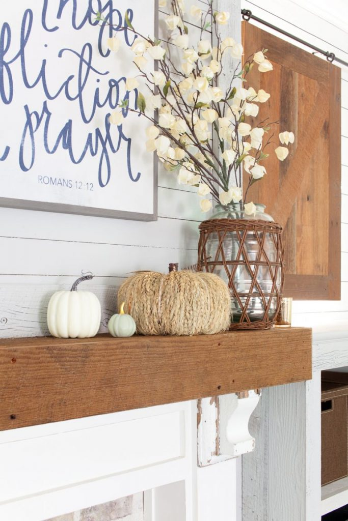 The Lettered Cottage fall mantel