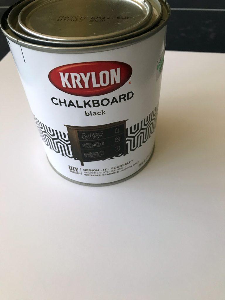 painting foam board with chalkboard paint