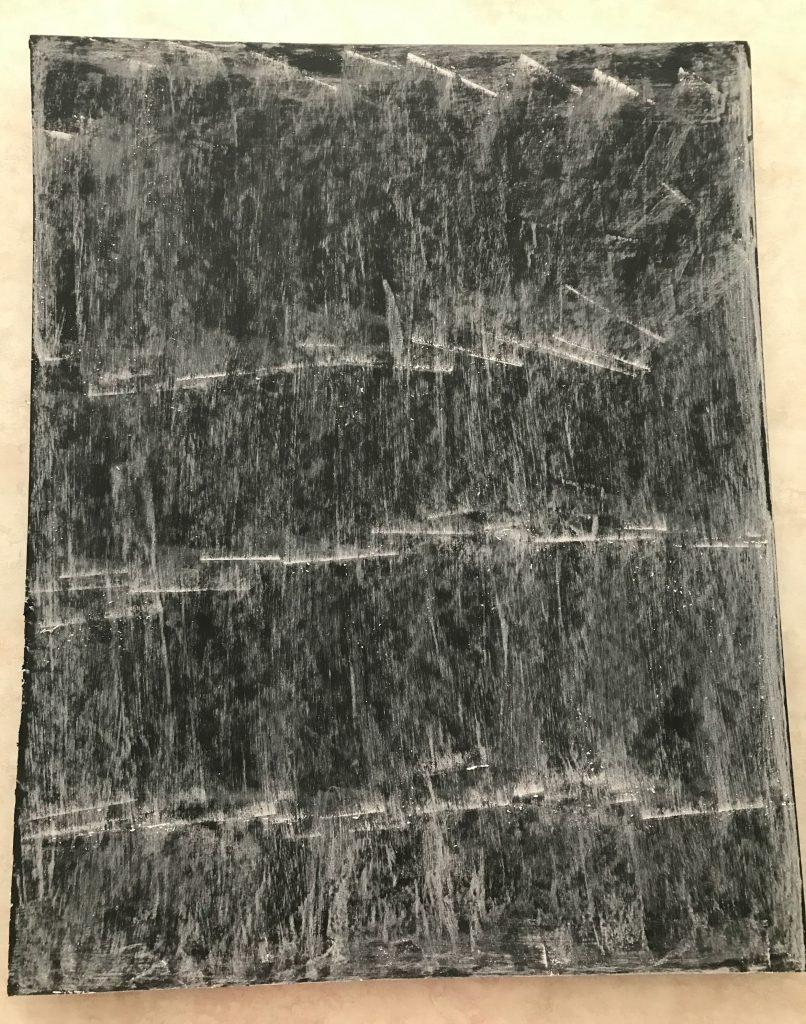 priming a foam board chalkboard