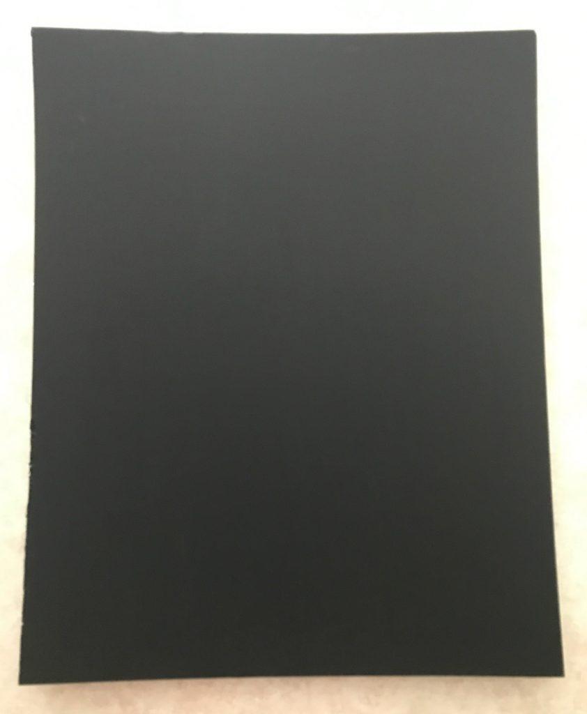 foam board painted with chalkboard paint
