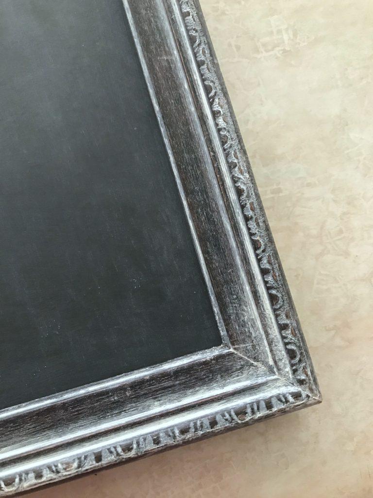 Framed foam board chalkboard
