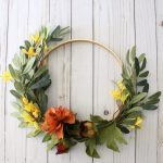 Simple DIY Fall Hoop Wreath