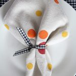 DIY Polka Dot Fall Napkin