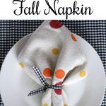 DIY Polka Dot Fall Napkin