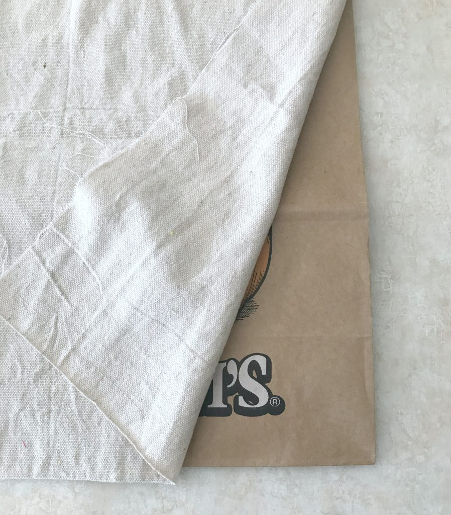 dropcloth fabric napkins