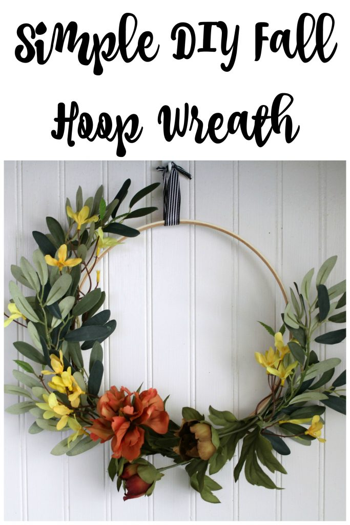 Simple Diy Fall Hoop Wreath Frazzled Joy