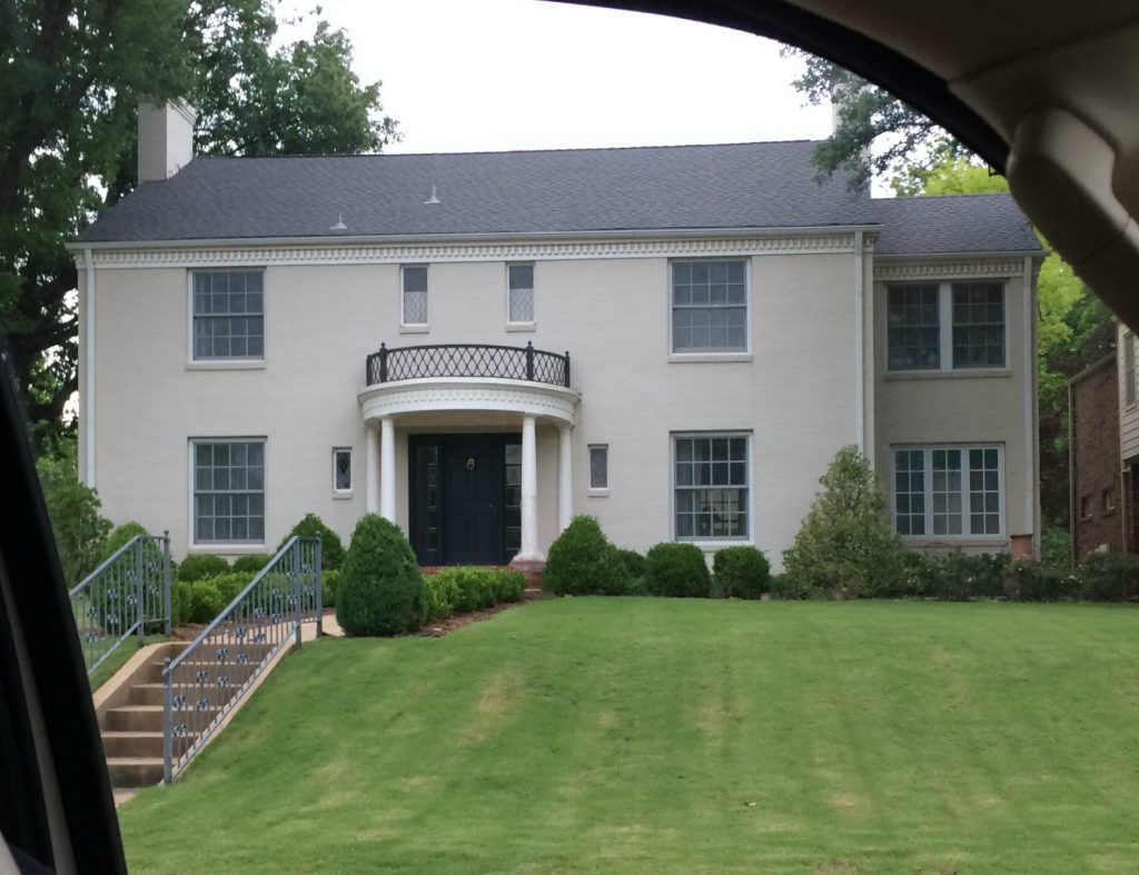 White painted brick house