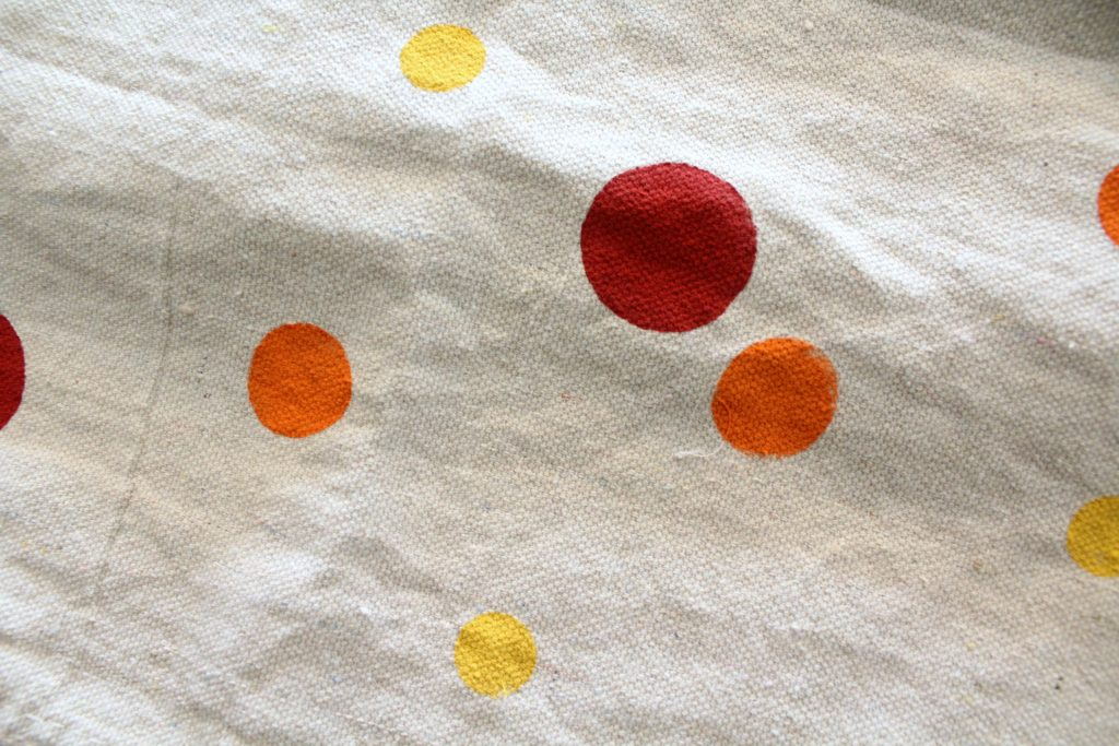 Fabric ink polka dots