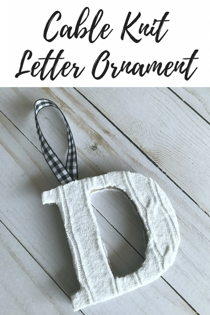 Cable Knit Letter Ornament