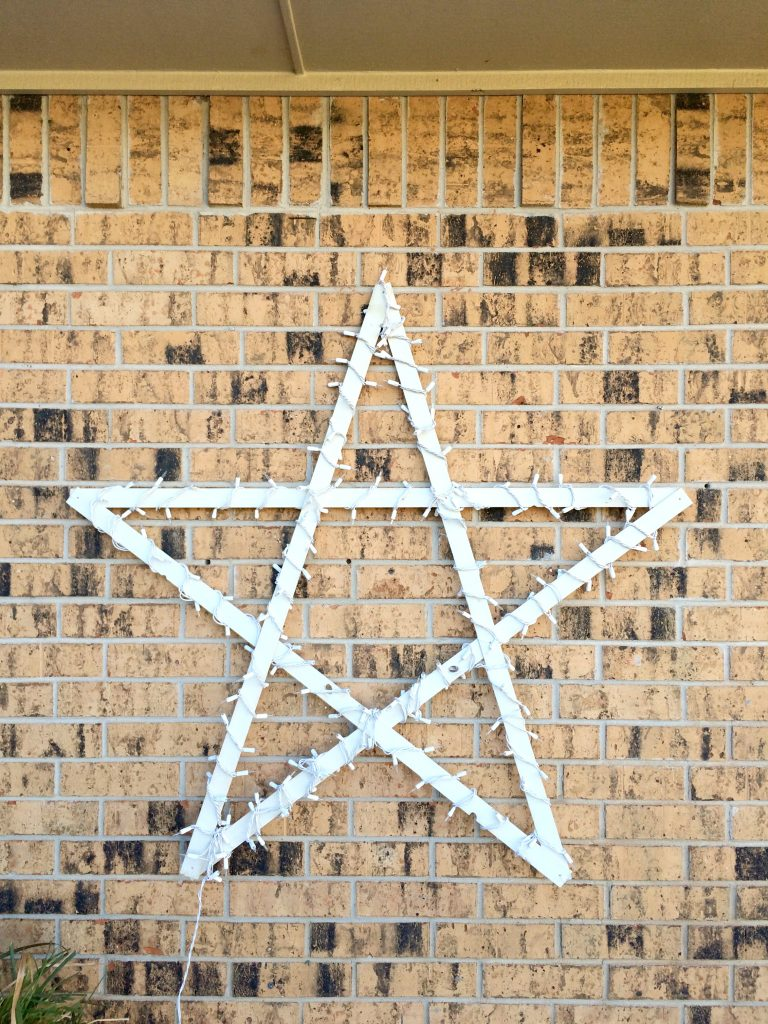 DIY Lighted Wood Star