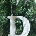 Cable Knit Letter Ornaments