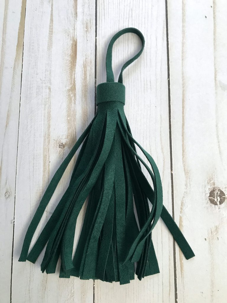 Green Suede Tassel Ornament