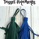 Make Your Own Suede Tassel Ornament