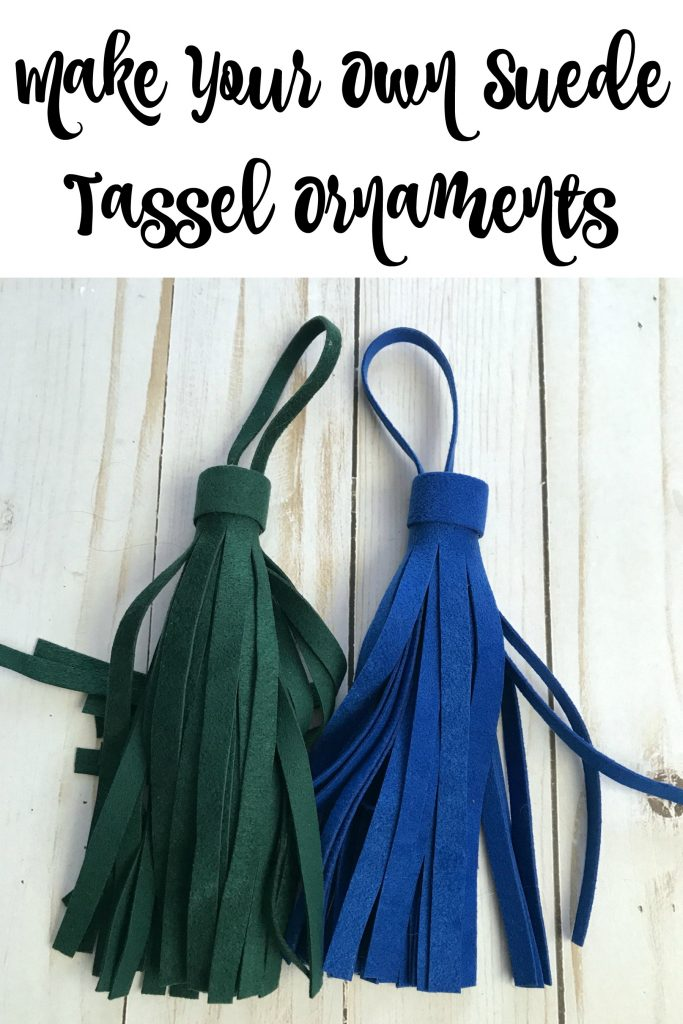 Make Your Own Suede Tassel Ornaments