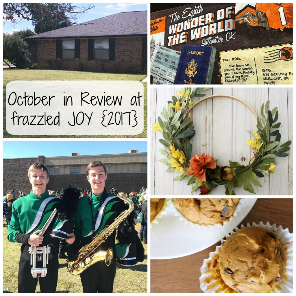 October in Review at frazzled JOY {2017}