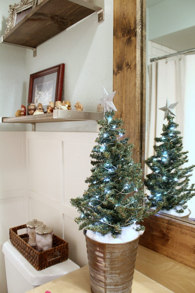 Christmas in our farmhouse bathroom