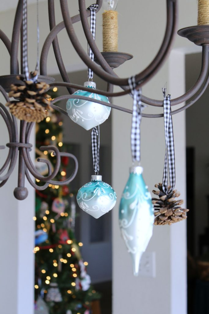 Ornaments are a great addition to any chandelier