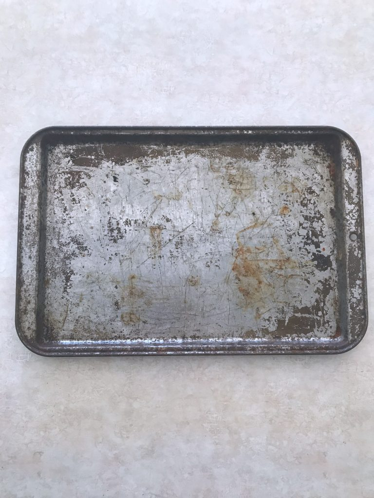 old baking sheet before
