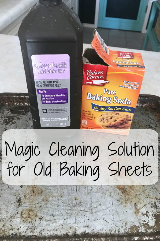 Magic Cleaning Solution for Old Baking Sheets
