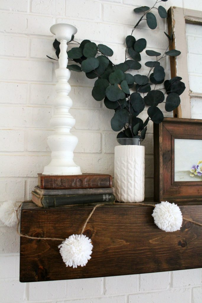 DIY sweater vases and pom pom garland