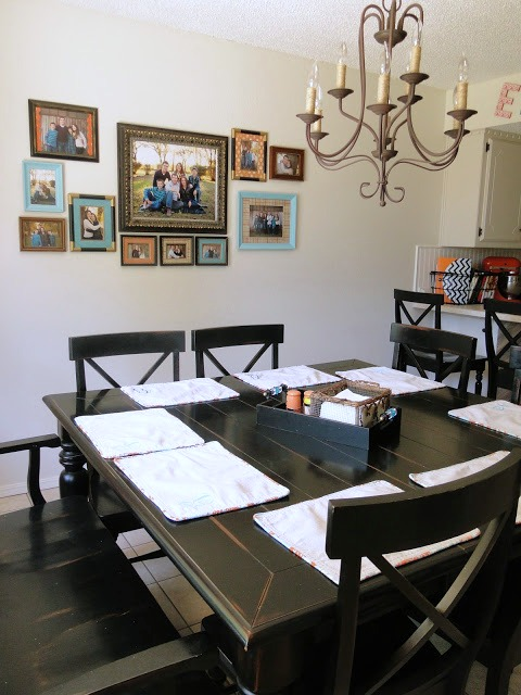 Breakfast room gallery wall
