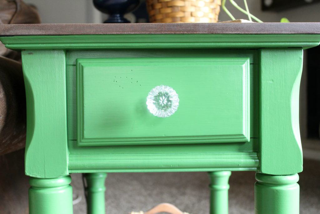 Side table makeover new knob from Hobby Lobby
