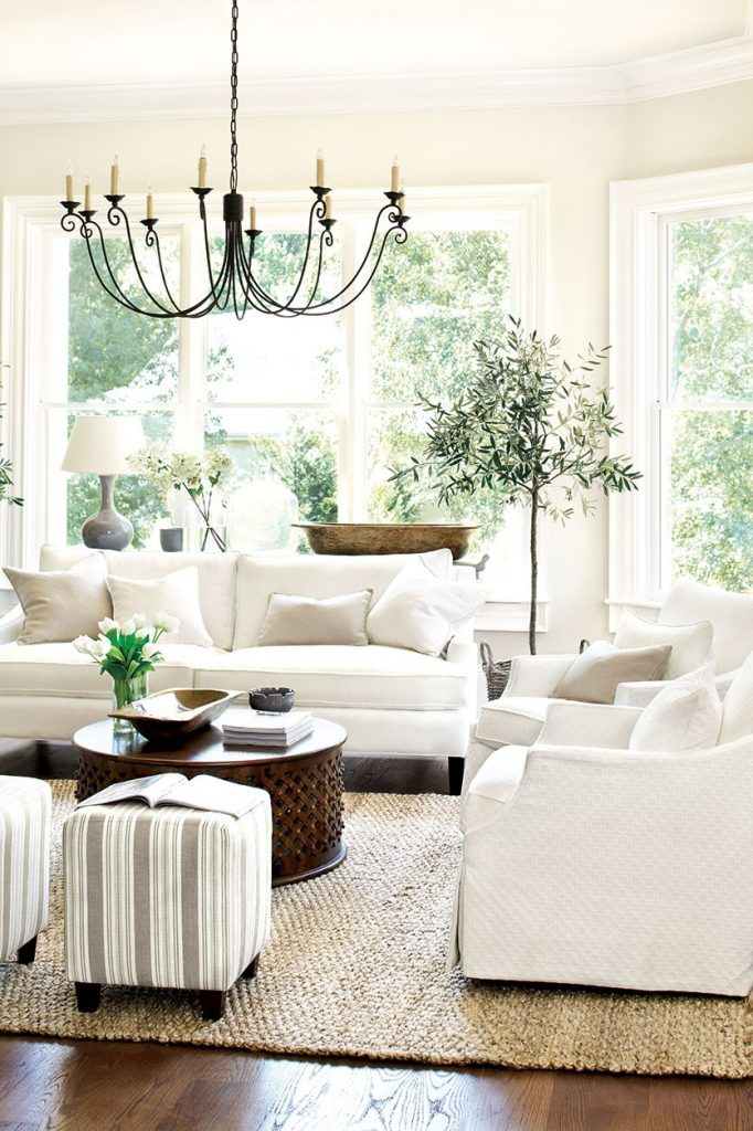 White couches inspiration from Ballard Designs