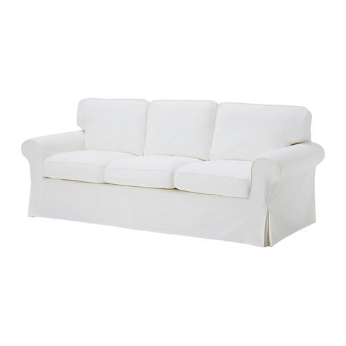 IKEA Ektorp 3.5 seat slip-covered sofa