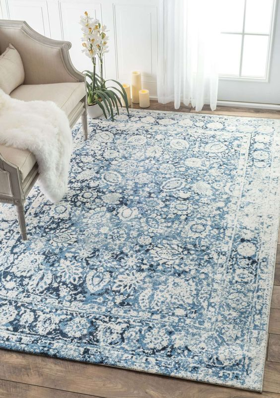 Blue rug from Rugs USA