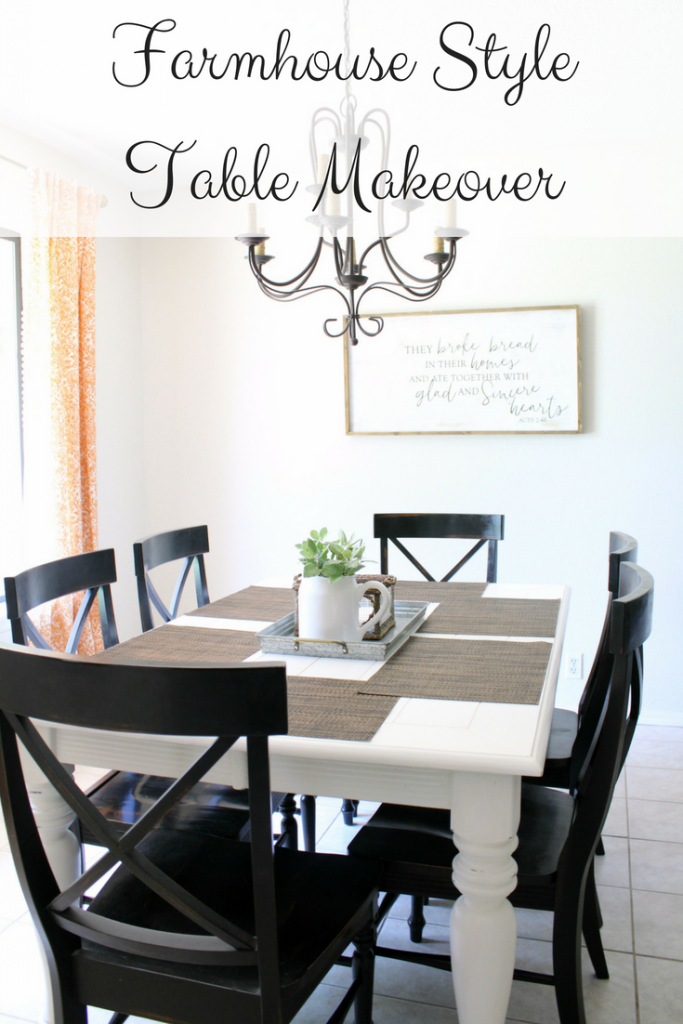 Farmhouse Style Table Makeover