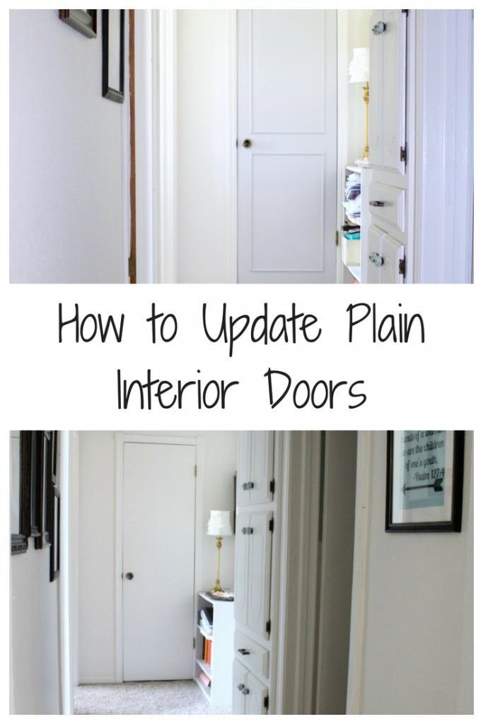 How To Dress Up Plain Interior Doors Frazzled Joy