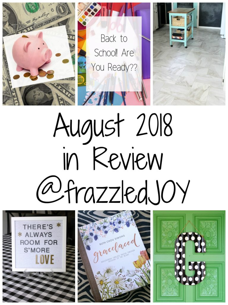 August in review at frazzled JOY