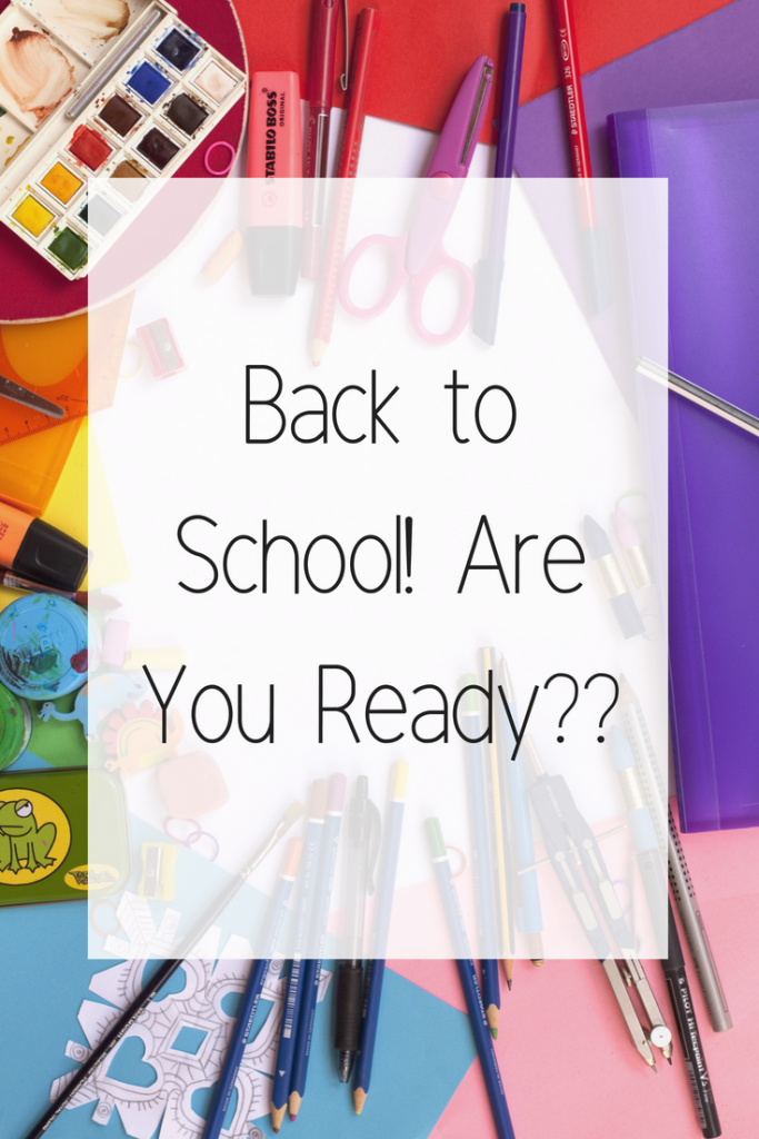It's time to go back to school! Are you ready??