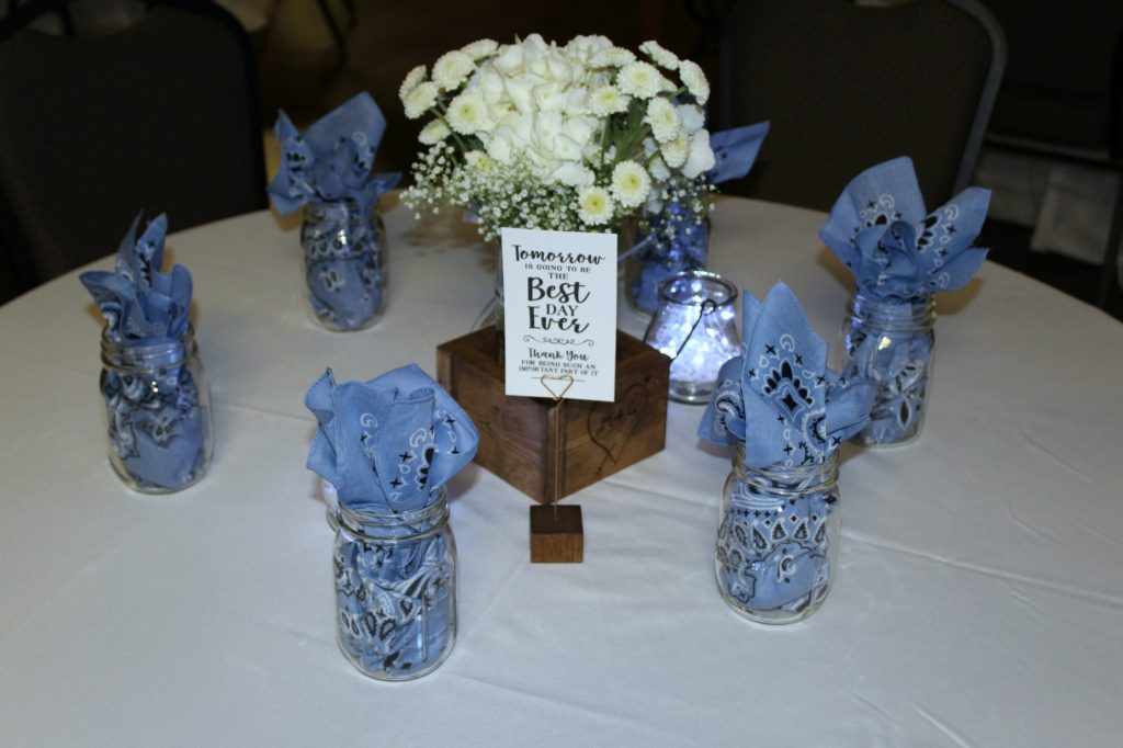 rehearsal dinner centerpiece